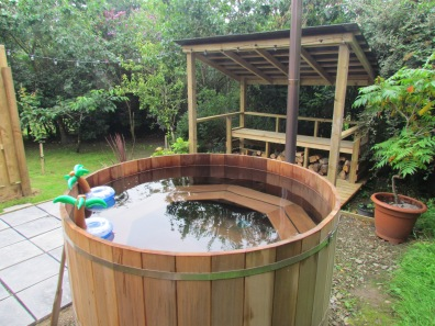Hot tub and seating