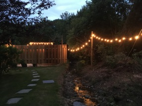 Outdoor lighting to soaking tub