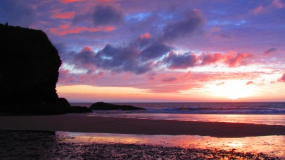 Llangrannog beach - sunset