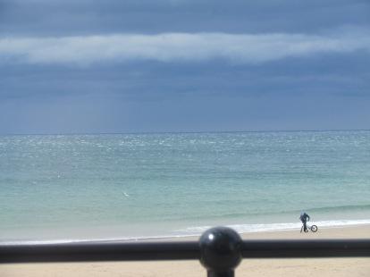 Llangrannog beach - bmx
