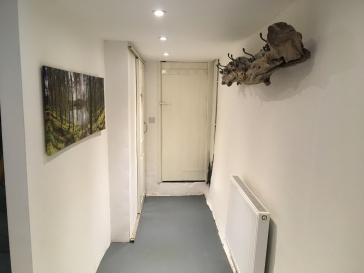 Hall to boiler room