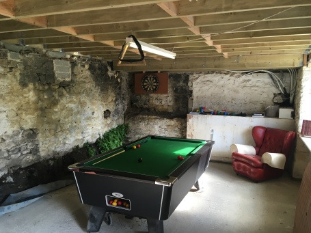 Pool table games room