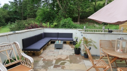 Roof terrace lounge seating